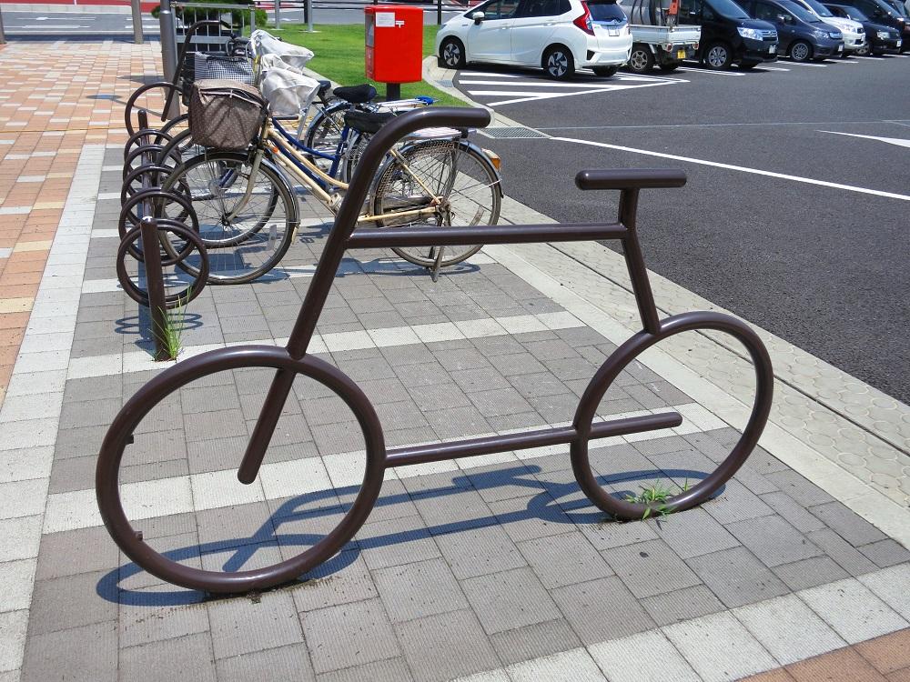 道の駅の自転車
