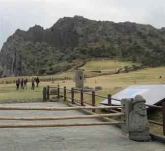 韓国・済州島の城山日出峰