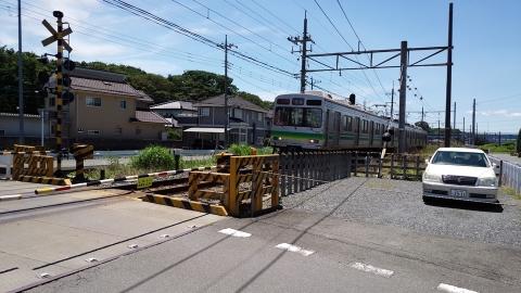偶然上り電車が来た!