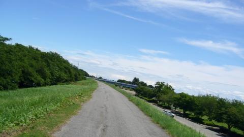 きびすを返して追い風に乗って走ります。私の貧脚でも25~28km/h位は出て楽々(笑)。