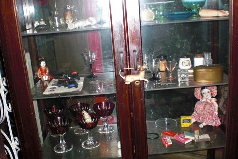 金魚カフェ 飾り棚