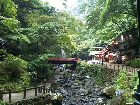 箕面 赤い橋