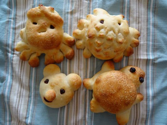 夏休みの子供パン