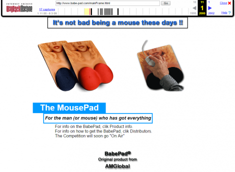 おっぱいマウスパッドルーツ(2000年)、Babepad