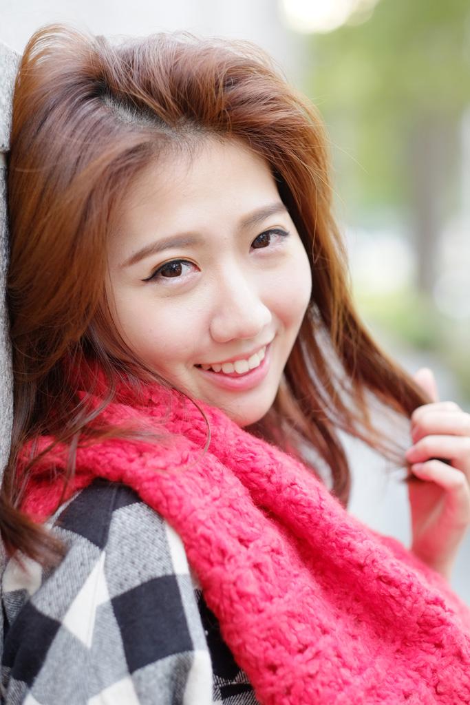 台湾のモデルさん・笑顔