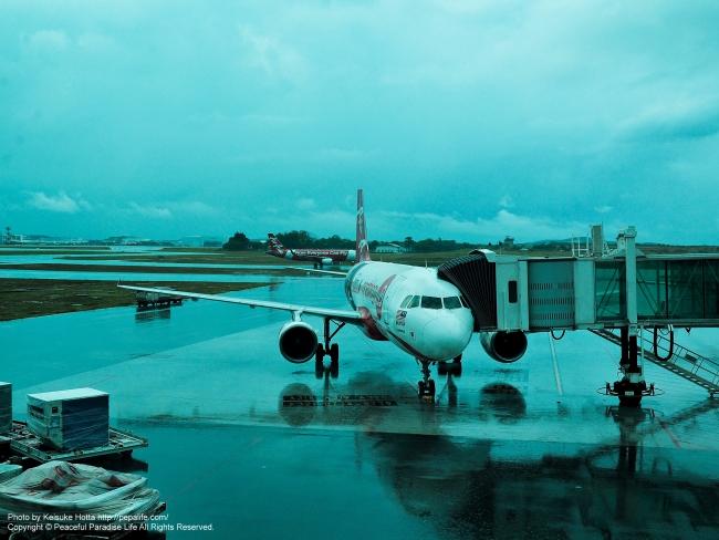 エアアジア機 IN クアラルンプール空港
