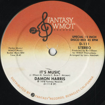 DG_DAMON HARRIS_ITS MUSIC_201507