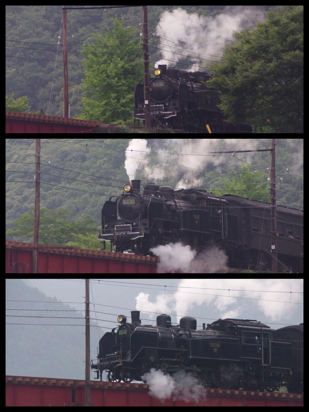 不動の滝オートキャンプ場 大井川鉄道SL