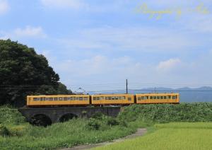 三岐鉄道北勢線・めがね橋にて