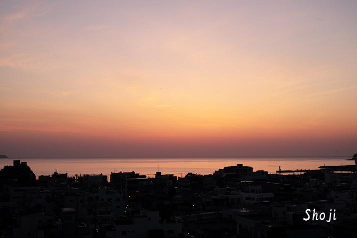 伊東港 紫陽花色の朝