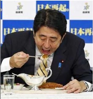 税金で3500円のカレーを食べる安倍ウンコリアンキチガイゴキブリ晋三