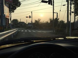ポルシェ993_朝ドライブ_20150801