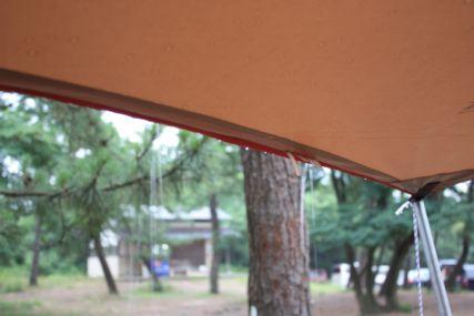 鳥取砂丘キャンプ雨