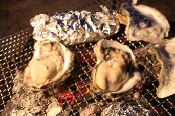 鳥取砂丘キャンプ牡蠣