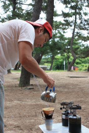 鳥取砂丘キャンプコーヒーひとし