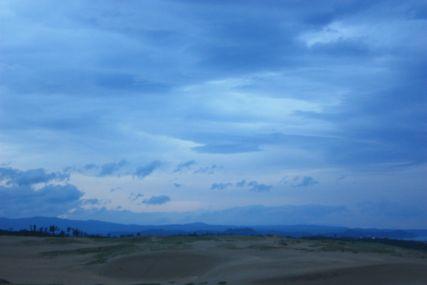 鳥取砂丘日の入