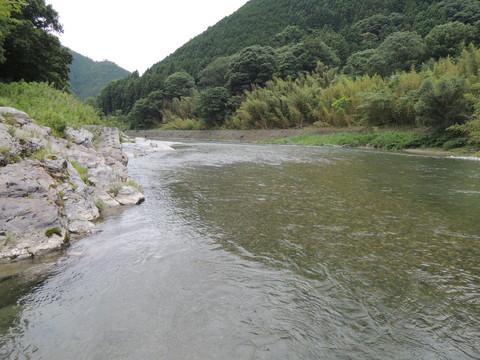 お店の前を流れる吉野川(下流側)