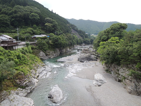 宮滝付近の吉野川(下流側)