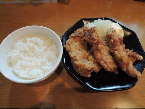 からあげ3コご飯セット(250円)