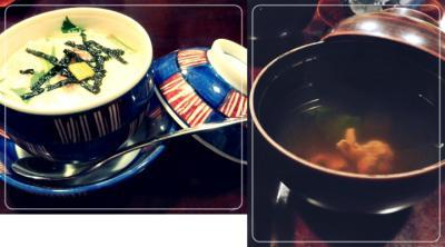 茶碗蒸し&肝吸い