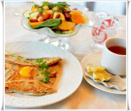 ガレットで朝食
