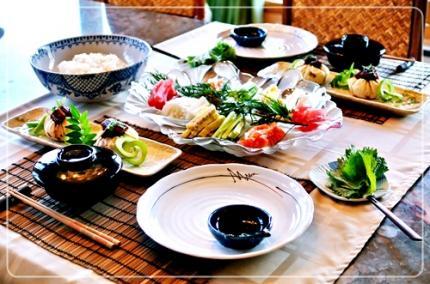 手巻き寿司で夕飯