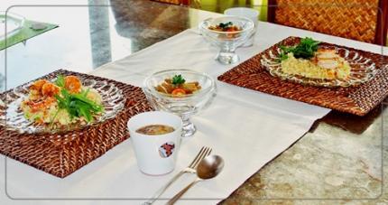 キヌア&海老のガーリック炒めで夕飯