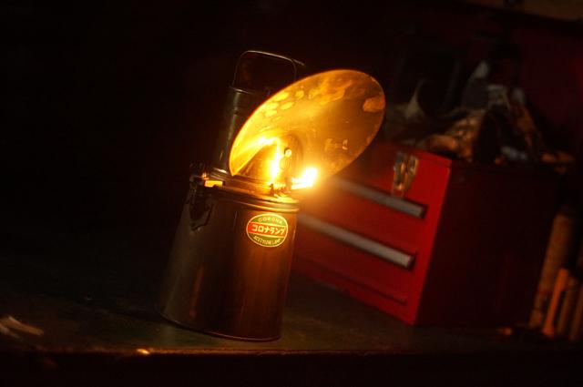 カーバイトランプ点灯する