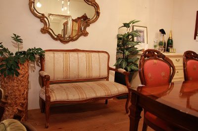 クラシカル調 アームソファ 2P ロココ調 肘掛椅子