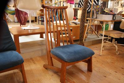 ナラ無垢材のスポークチェア イージーチェア 安楽椅子