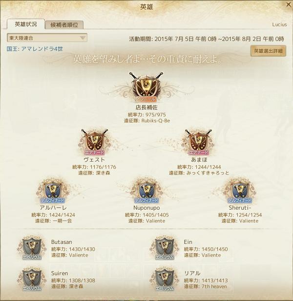 7月4日初代英雄東