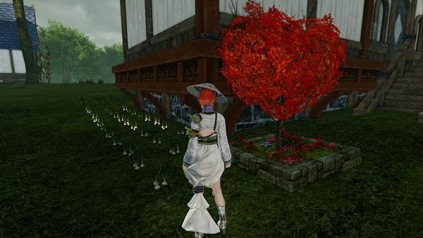 7月6日愛の木の花壇横にニンニク