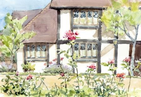 イギリス村のバラ