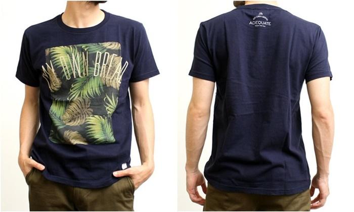 2015-07-10 トロピカル柄プリント半袖クルーネックTシャツ 2