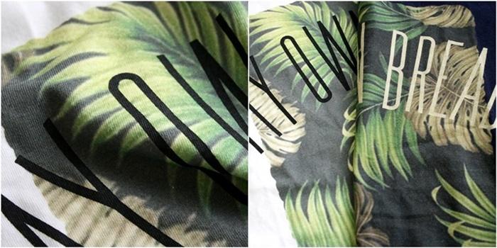 2015-07-10 トロピカル柄プリント半袖クルーネックTシャツ 6