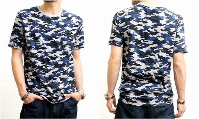 2015-07-10 カモフラージュプリント半袖ポケットTシャツ 2