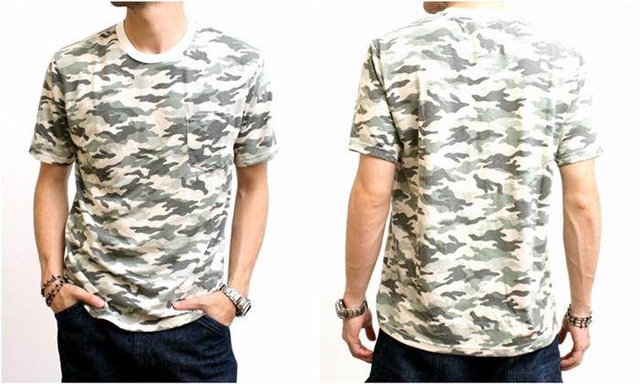 2015-07-10 カモフラージュプリント半袖ポケットTシャツ 3