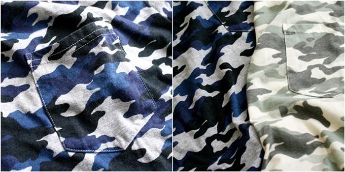 2015-07-10 カモフラージュプリント半袖ポケットTシャツ 5