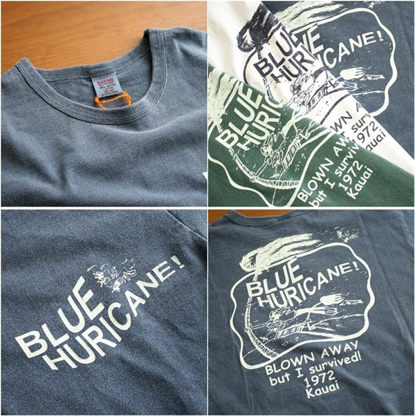 2015-08-03 BARNS OUTFITTERS バーンズ ピグメント加工ヘビーウェイト リントTシャツ 「BLUE HURICANE!」 6-vert