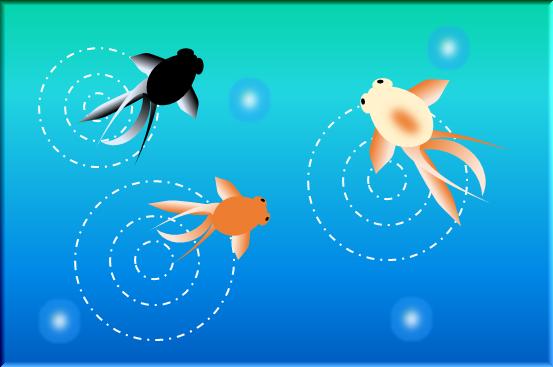 金魚のお絵かき