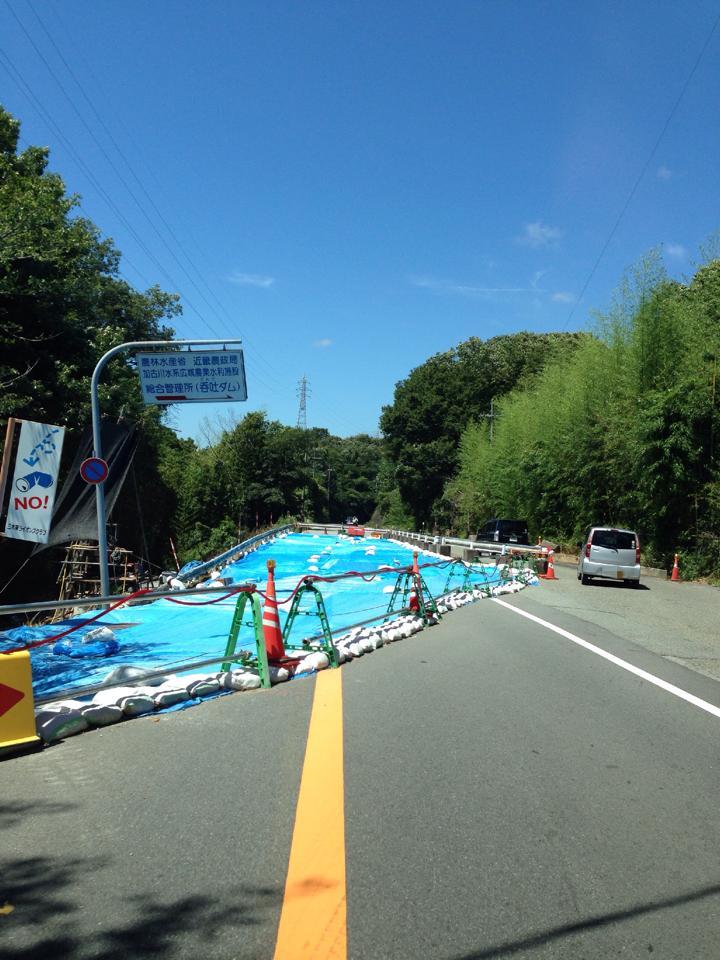 ドライブ ツーリング 台風 道路崩落