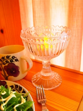 LED candle × one plate breakfast