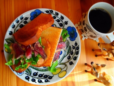 roast beef toast sandwich