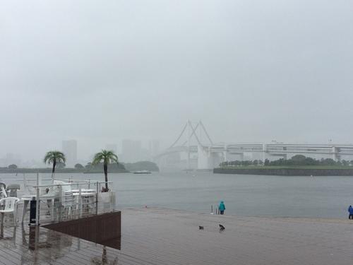 雨の海浜公園