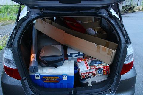 荷物満載の車
