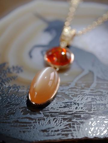 オレンジムーンストーン オパールP (2)