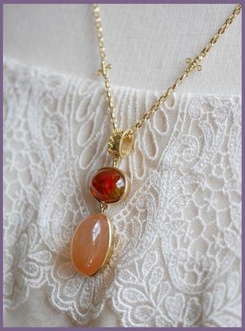 オレンジムーンストーン オパールP (4)