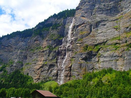 ミューレンからの滝