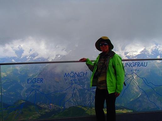 シルトホルン展望台からの三山