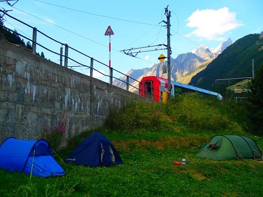 ツェルマットのキャンプ場